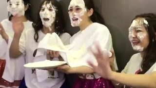 pie in the face japanese idol