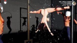 【3段階】裸体鞭刑拷问室-Naked torture room-裸拷問室