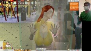 The Sims 4:10 people having hot sex in a transparent shower – Part 2